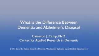 What is the difference between alzheimer's disease and dementia?