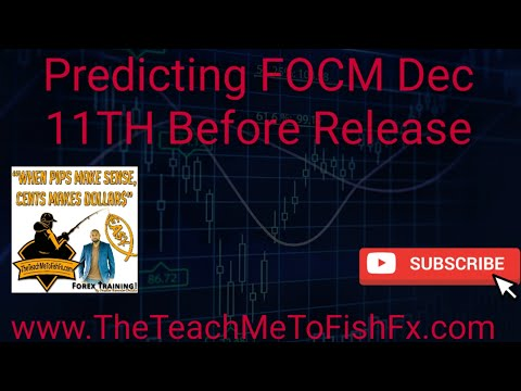 Predicting FOMC Dec 11TH 2019 Before Release | High Impact News Trading | The Teach Me To Fish Fx