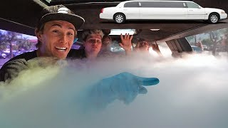 500LBS of DRY ICE in LIMOUSINE! *Satisfying Experiment*