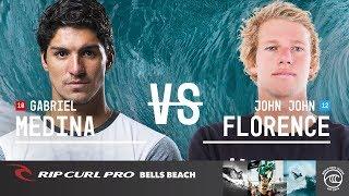 Gabriel Medina vs. John John Florence - Quarterfinals, Heat 3 - Rip Curl Pro Bells Beach 2019