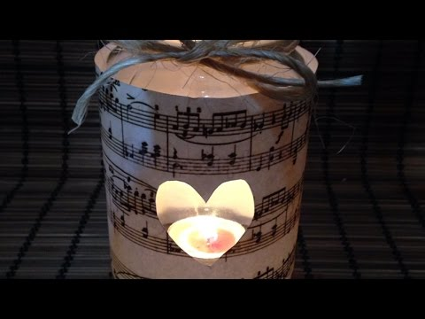 Create a Vintage  Music Sheet Candle Holder - DIY  - Guidecentral