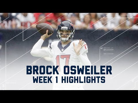 Every Brock Osweiler Throw | Bears vs. Texans | NFL Week 1 Player Highlights