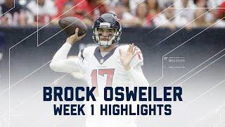 Every Brock Osweiler Throw   Bears vs. Texans   NFL Week 1 Player Highlights