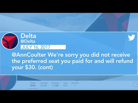 Delta fires back at Ann Coulter in Twitter war