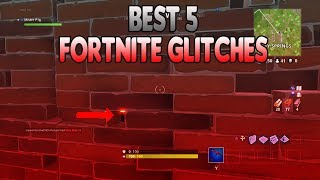 BEST TOP 5 FORTNITE GLITCHES - WALLBREACH | UNDER THE MAP | GOD MODE | HIDING SPOTS | AND MORE