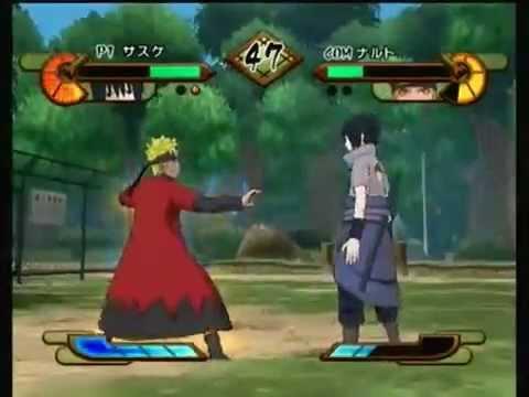 Naruto Shippuden Gekitou Ninja Taisen Special Sasuke Vs Naruto Sage Mode