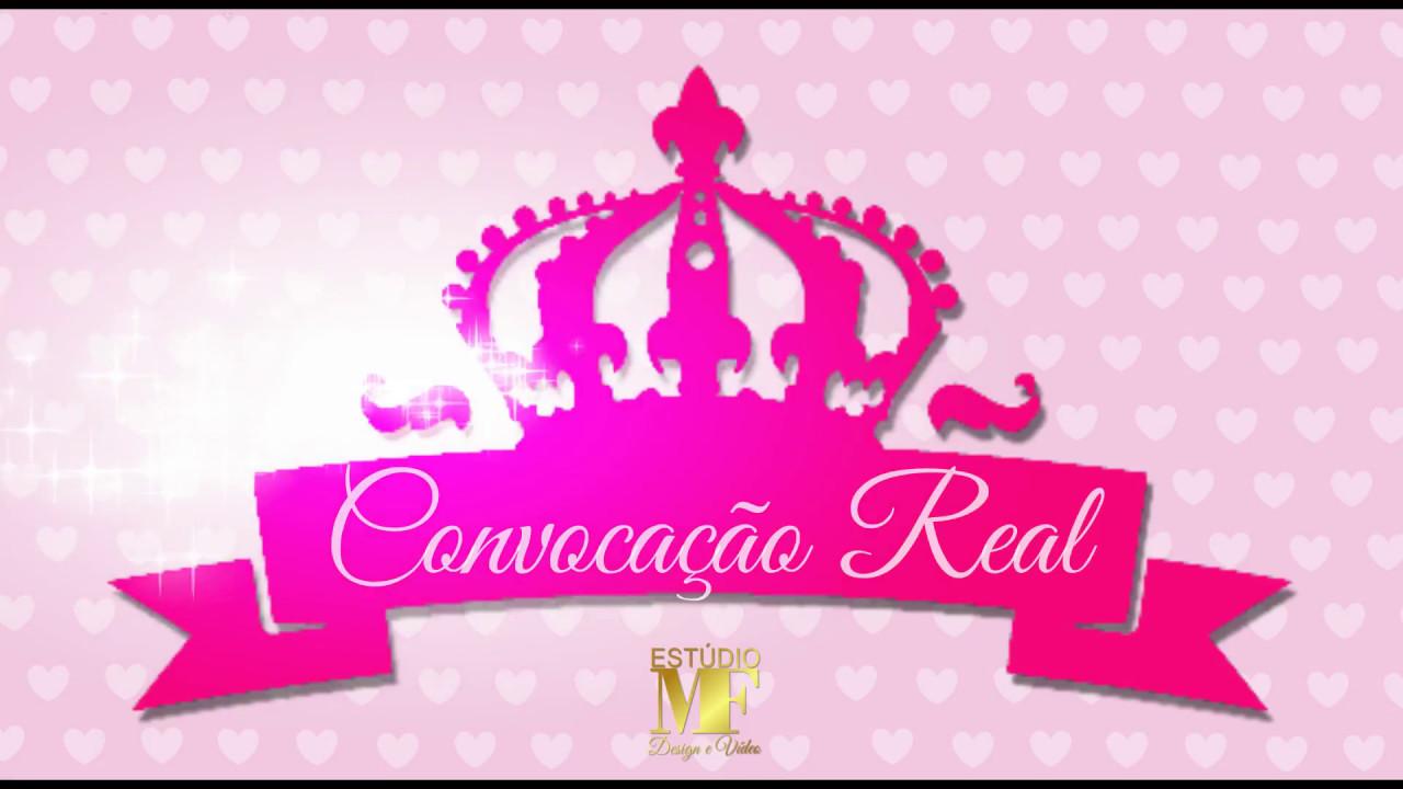 Convite Virtual Realeza Coroa Youtube