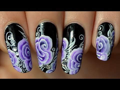 Tuto nail art one stroke : Dessin 3D spiral rose sur ongles - Tuto Nail Art One Stroke : Dessin 3D Spiral Rose Sur Ongles - YouTube