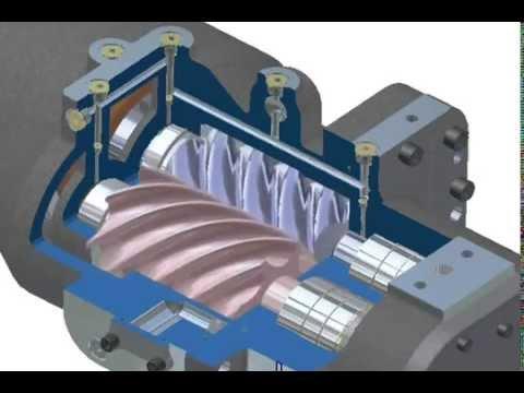 Video Compressor Parafuso Chiller York Ycav Youtube