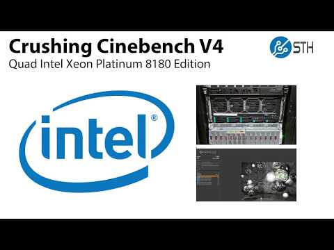 Crushing Cinebench V4 with 224 Threads and 4 Intel Xeon
