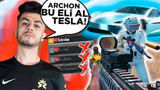 ARCHONA WİN ALIRSAN TESLA ALICAM DEDİM  ( HESABINDAN KIZLARA YAZDIM ) - PUBG Mobile