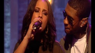 Usher and alicia keys perform 'my boo' on cd:uk.
