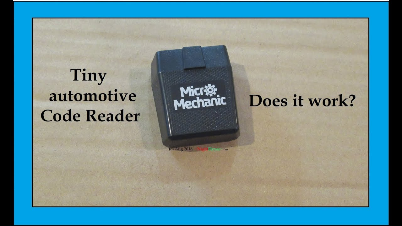 Tiny Micro Mechanic Automotive Code Reader tells problems & resets engine  light after fixing them
