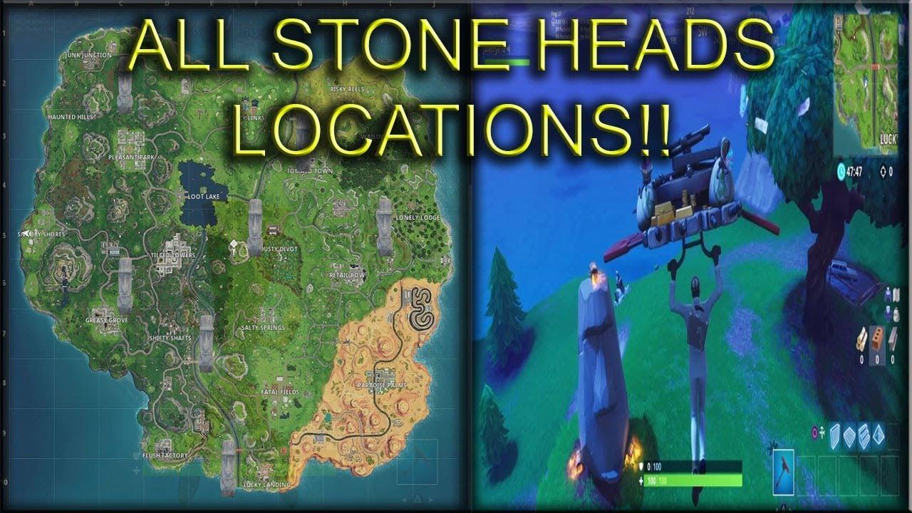 fortnite season 5 week 9 visit different stone heads challenge all locations - stone head locations fortnite week 9