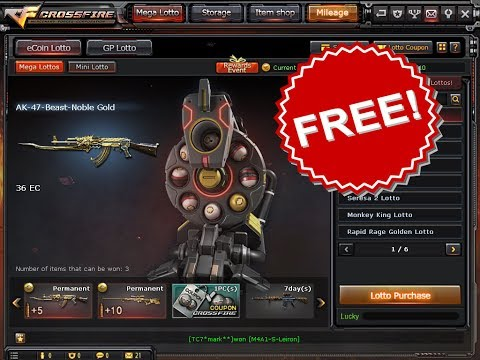GET FREE AK47 Beast and AWM Infernal Dragon Noble Gold Ecoin Lotto VIP