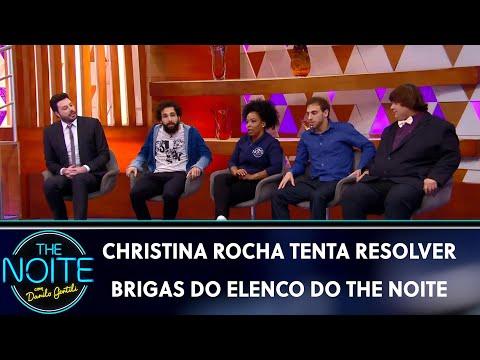 Christina Rocha tenta resolver brigas do elenco do The Noite   The Noite 200519