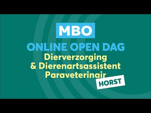 Horst MBO Dierverzorging en assistent Online Open Dag