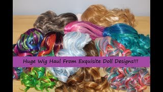 Huge Custom Wig Haul for my American Girl Dolls!!!