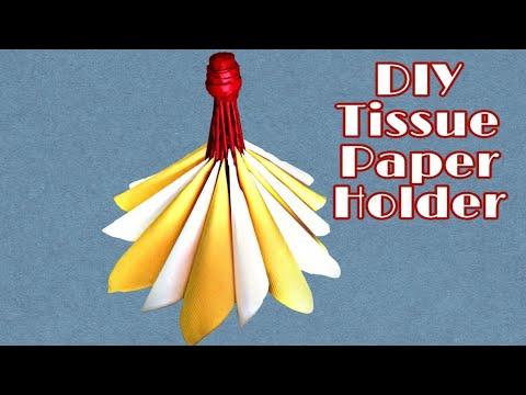 Diy craft   How to make Tissue holder   Diy tissue paper holder   Newspaper crafts
