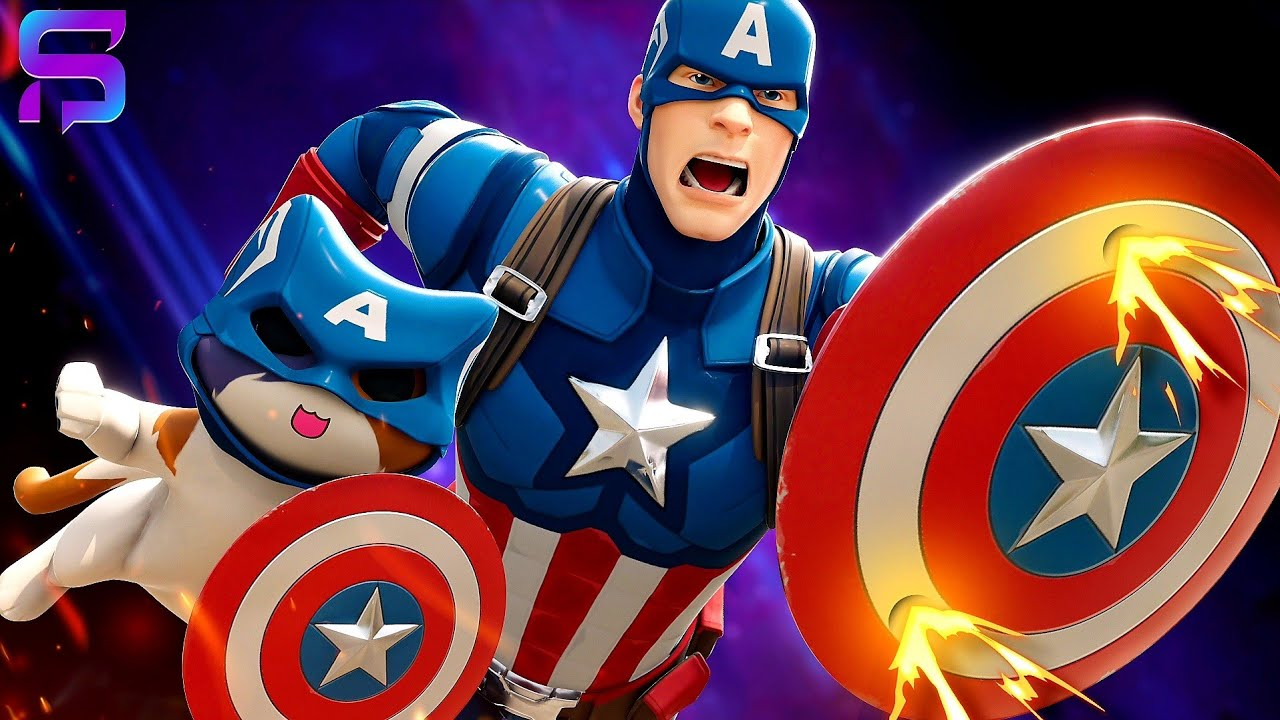 CAPTAIN AMERICA and KIT TEAM UP.... ( Fortnite Film )