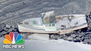 Aerials Show Bird's-Eye View Of Boston Region After 'Bomb Cyclone' | NBC News