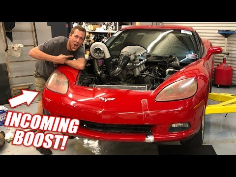 We Turbo'd the Auction Corvette in ONE DAY! (RIP Truck Engine)