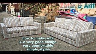 #unique #sofaset How to make sofa set New design  3+2  most stylish design sofa set