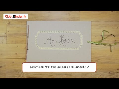 diy comment fabriquer un herbier youtube. Black Bedroom Furniture Sets. Home Design Ideas
