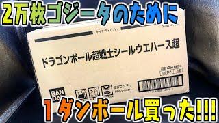 これでダメならもうダメだ!!!!!限定2万枚ゴジータのために1ダンボール購入!!!!!!新ドラゴンボールウエハース開封レビュー【パート2】