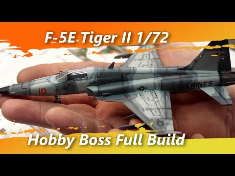 F-5E Tiger II 1/72 Hobby Boss Full Build