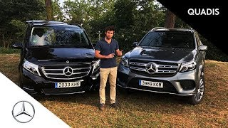 Mercedes-Benz Clase V vs Mercedes-Benz GLS   Comparativa   Prueba Mercedes 7 plazas   Quadis.es