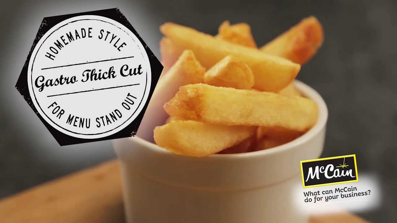 NEW! McCain Signatures Gastro Thick Cut Chip