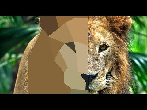 Photoshop Tutorial | Low Poly Portrait | Lion Face Logo Design thumbnail