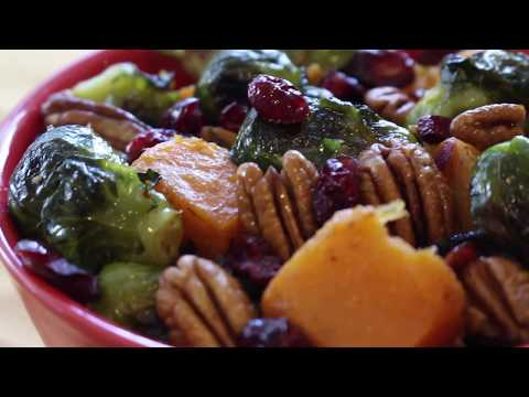 Roasted Brussel Sprouts & Butternut Squash | Vegan