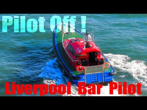Harbor Pilot Disembarking At Bar Pilot Station Liverpool UK [4K]