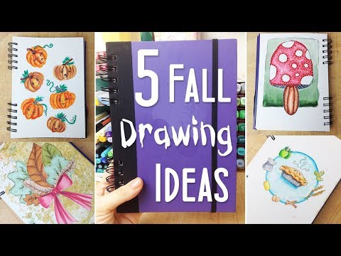 5 Fun Fall Art and Drawing Ideas: Ways to Fill Your Sketchbook #2