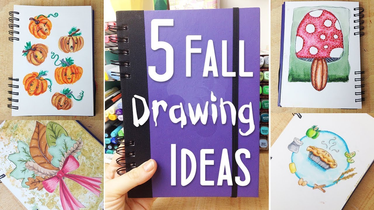 5 fun fall art and drawing ideas ways to fill your sketchbook 2