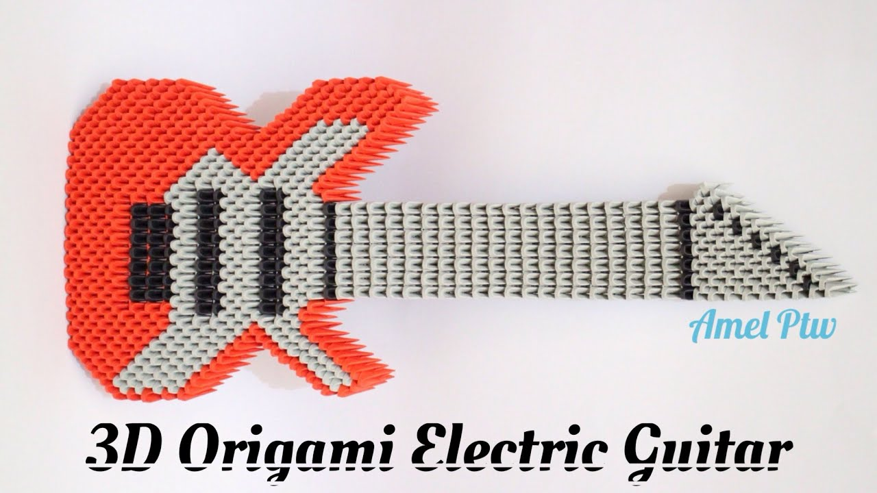 how to 3d origami electric guitar youtube