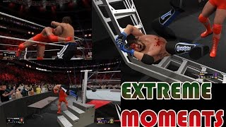 WWE 2K17  - Extreme Bloody OMG Finishers Montage [PS4 Gameplay]