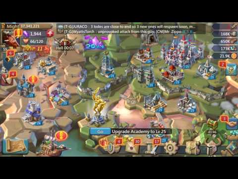 Lords Mobile THE AFTER EFFECT OF KvK WITH GEM LODES | KINGDOM 5 RANKED #2 IN KvK!!!