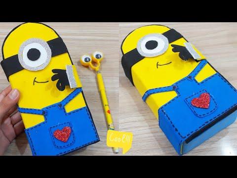 Diy Minion Pencil case step by step tutorial   Ms.Maker