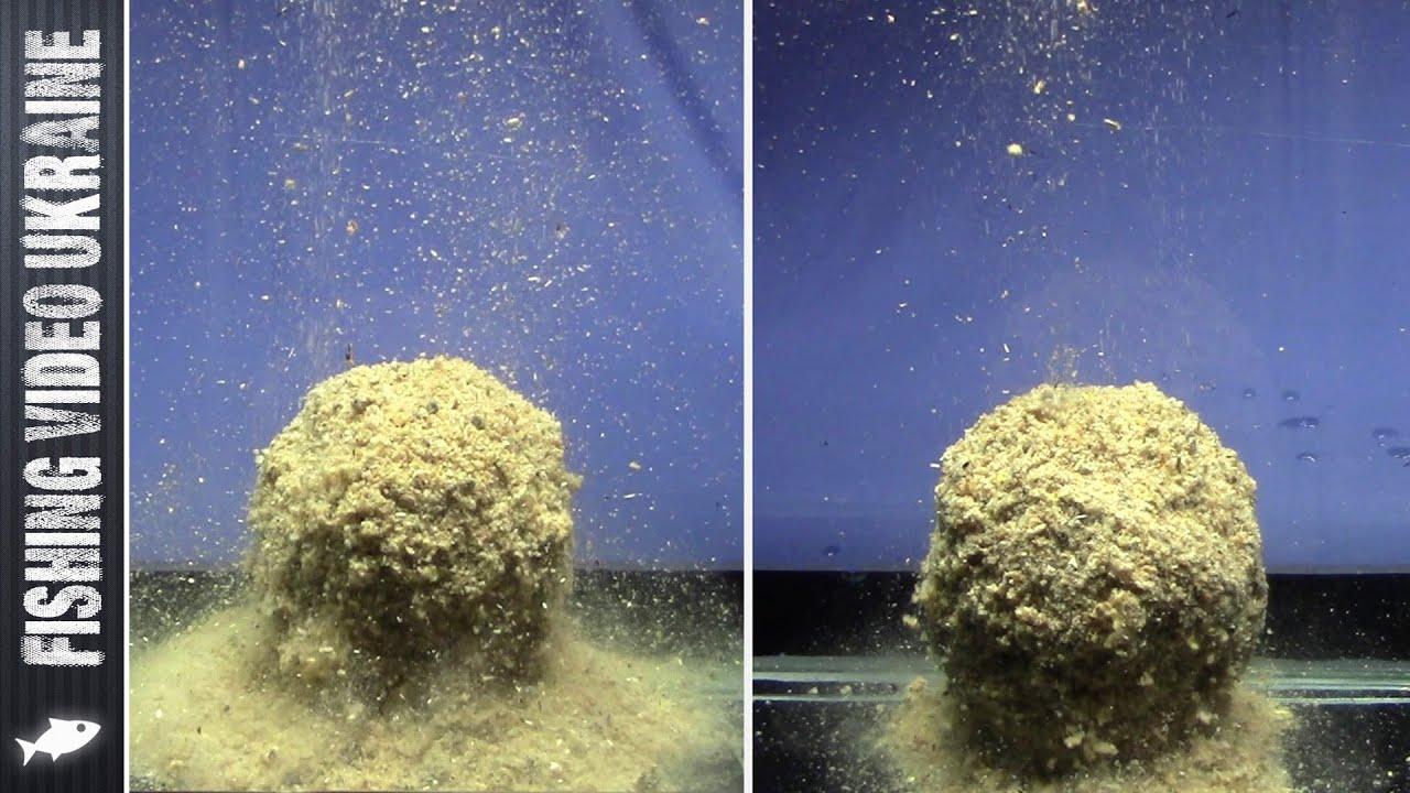 Как влияет сито на поведение прикормки в воде   Наглядный эксперимент   1080p