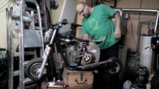 Pocket Mini Bike   First start - engine puch e50