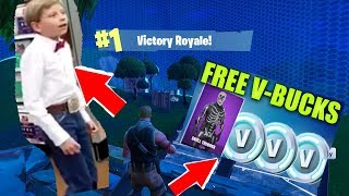 YODELING KID JOIN MY FORTNITE JEU!?!?! (V-Bucks Giveaway!!!)