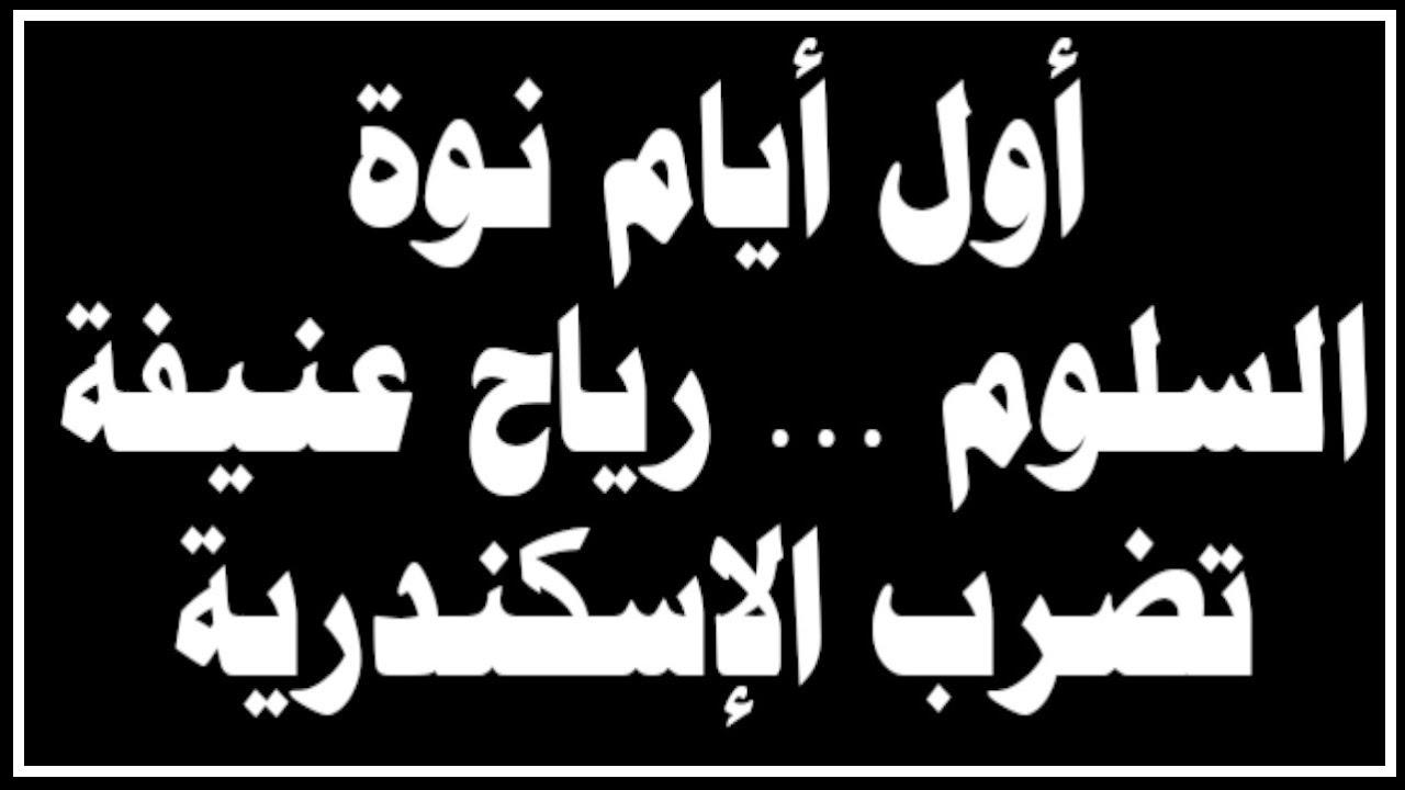 أول أيام نوة السلوم رياح عنيفة تضرب الإسكندرية