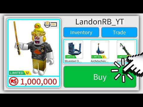 SELLING MY ROBLOX ACCOUNT FOR 1,000,000 ROBUX ..
