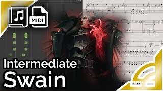 Swain login theme (simplified) - League of Legends (Synthesia Piano Tutorial)