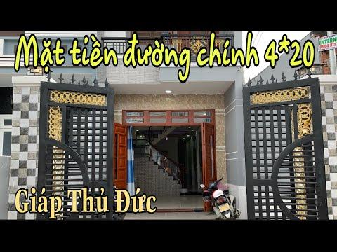 Bán Nhà Dĩ An Bình Dương| mặt tiền đường Nguyễn hữu Cảnh phường TĐH, TP. Dĩ An. 4*20 giá 3 tỷ 550