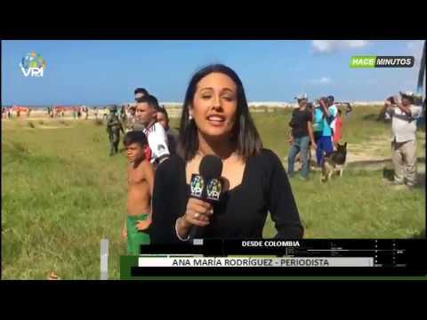 Colombia - Helicóptero estadounidense aterrizó en Colombia para trasladar a venezolanos - VPItv