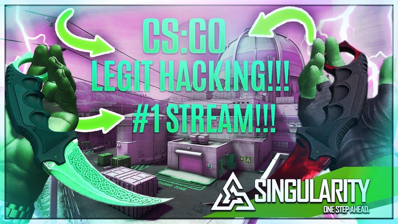 FIRST STREAM!!! CS:GO LEGIT HACKING!!! USING SINGULARITY/AimWare!!!